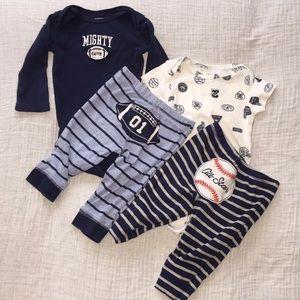 2 Carter's matching sets. Size 6 months
